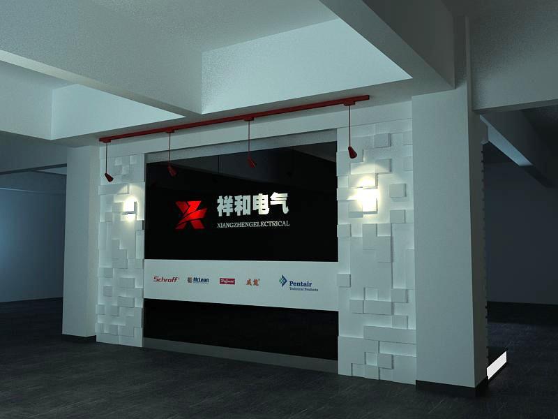 现代风格形象墙装修效效果图 灯箱海报门头装饰广告设计印